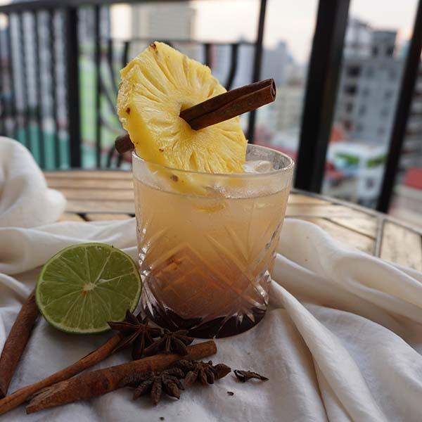 5f37f3edd2a56 Sailor Jerry Rum, Plantation Overproof Rum, Tomoka Aromatic Bitters, Tomoka  Orgeat, Grand Marnier, Tomoka Falernum, Lime, Maraschino